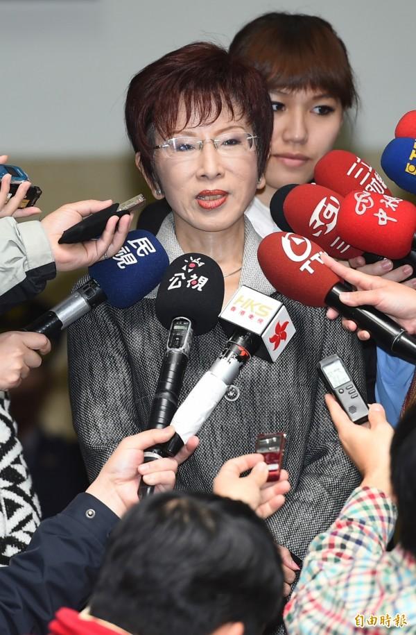立法院副院長洪秀柱今天表態,將加入黨內總統初選,且不接受勸退。(資料照,記者張嘉明攝)