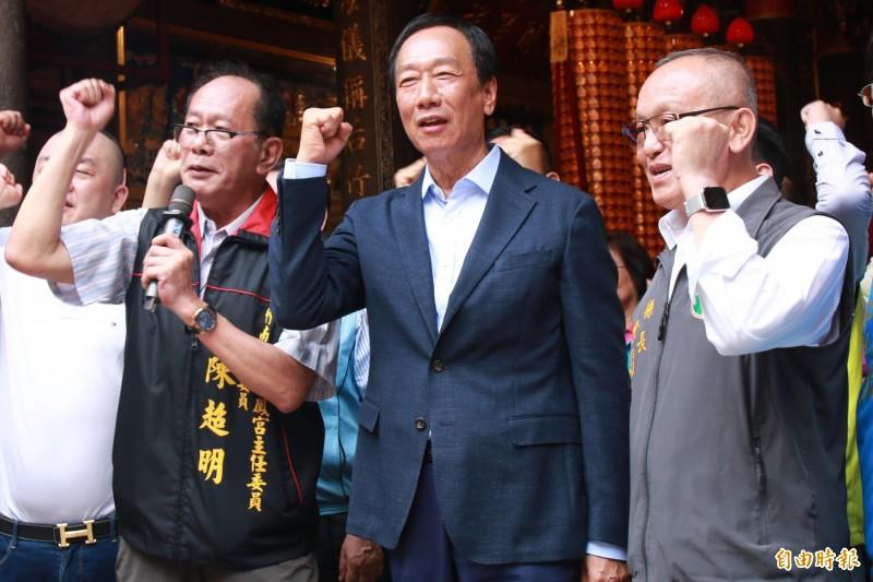 國民黨主席吳敦義邀郭台銘(圖)本週見面,郭辦表示「沒時間」。(資料照)