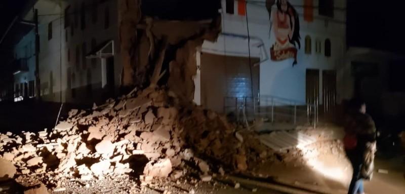 目前陸續有建築物受損畫面曝光。(圖擷自Twitter)