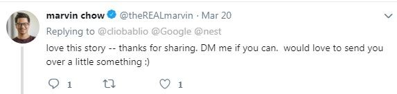 台中日友當舖分享國際新聞-這篇貼文相當有趣,連Google的銷售副總Marvin Chow都來留言。(圖翻攝自推特)