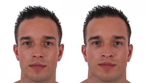男人臉型圓潤與否,在面試上比較不會有影響。(圖擷取自《PLOS ONE》)