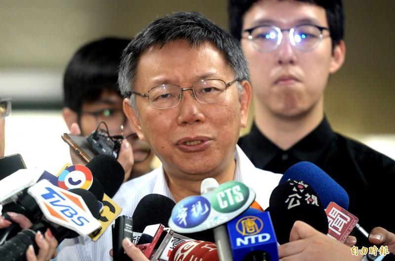 總統蔡英文、台北市長柯文哲近日針對兩岸議題隔空交鋒,柯文哲引用《孫子兵法》,認為國家元首最重要的在於避戰,並指總統蔡英文是挑釁者。(資料照)