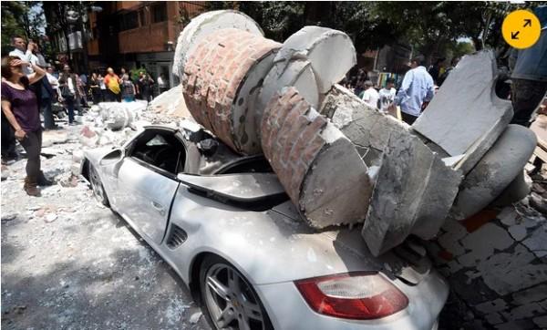 墨西哥發生規模7.1強震,造成重大傷亡。(取自網路)