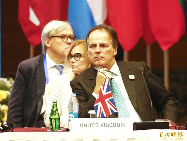 British Minister of State for Asia and the Pacific Mark Field attends the 13th Asia Europe Foreign Ministers Meeting in Naypyidaw, Myanmar, on Nov. 20 last year. Photo: EPA