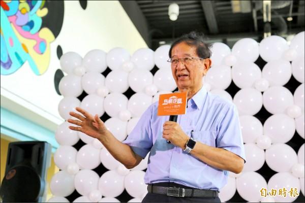 前中研院院長李遠哲昨天表示,管中閔的爭議,被誤導成政治干預學術自由是完全不對的。(記者林曉雲攝)
