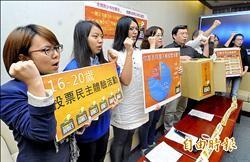 台少盟調查╱下修投票年齡 81%青少年贊成