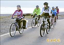 單車環島感恩行 日63歲婦抵花