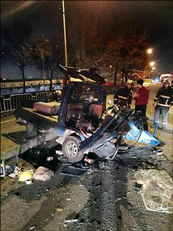 貨車對撞1死 鋼瓶瓦斯外洩