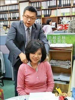 立委新春秀才藝╱蔡其昌按摩達人 陳其邁潛水高手