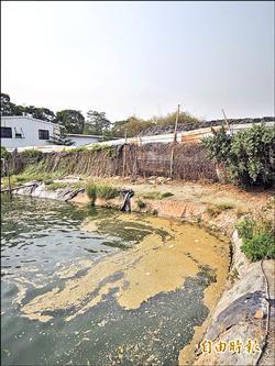 廢土場泥漿外流 淹墳毀魚塭