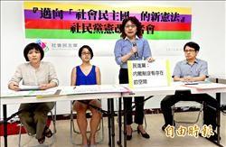 社民黨 批藍綠憲改政治算計
