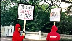 星總統府前抗議 2青年被捕
