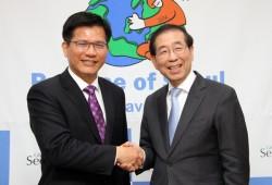 林佳龍拜會首爾市長 談妥市民旅遊優惠