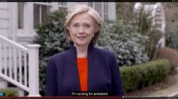 希拉蕊宣布選總統 改打親民牌
