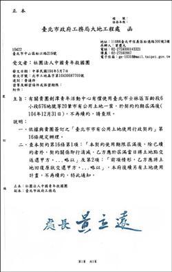 救國團劍潭中心 北市年底收回當公園