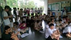 竹中首場反黑箱課綱 近700學生連署