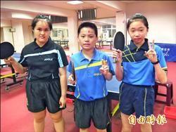 宜蘭國小3童獲桌球國手 立志拿奧運金牌