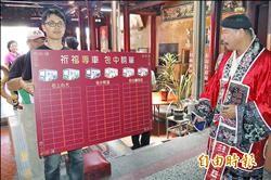 考季搭台南公車 送關公加持香包祈福卡