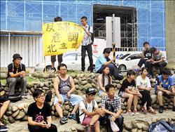 中一中、竹中熱血生 街頭宣導反課綱