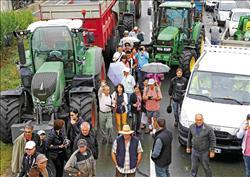 法國農民抗議 台客觀光路過