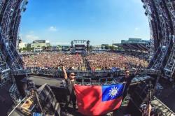 日本超世代音樂節 台灣國旗飄揚