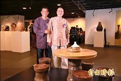 百件陶器組成台灣百岳 林添福父子聯展