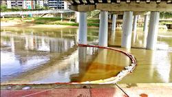 中油漏油污染基隆河 北市將重罰