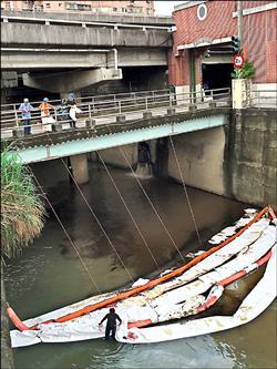 汐止油管漏油 滲入基隆河