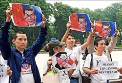 習近平訪越南 抗議如影隨形