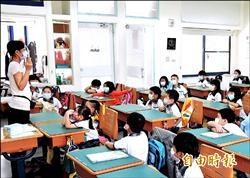 紫色空品旗高掛 學生戴口罩上課