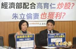 台聯︰朱岳父公司 疑與經濟部聯手炒股