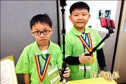 結合雨傘 小學生研發伸縮自如自拍器