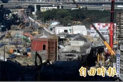 忠孝橋引橋拆除進度超前 預計明晚完工