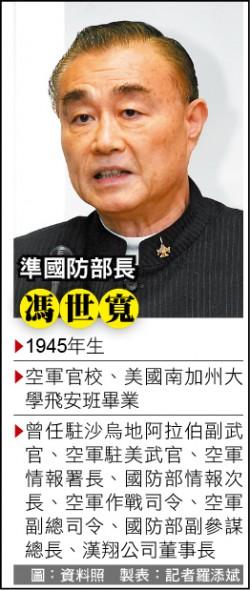 林碧炤接府秘書長 馮世寬掌國防部