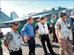 升高對峙/ 美防長視察南海航艦 中國軍委副主席登島