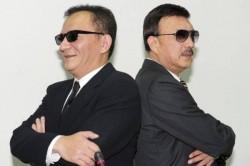 祝賀余天掌新北黨部 高志鵬貼出兩人「MIB」版合照