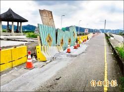 集鹿大橋施工 下陷路不平惹怨