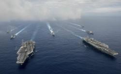 南海若擦槍走火 解放軍:2艘美國航母就回不去了