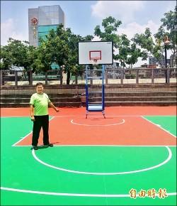 大里運動公園 3籃球場「換新衣」