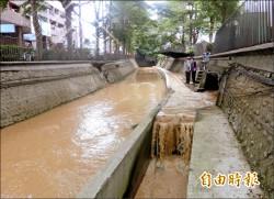 潮洋溪黃濁 揪出工地偷排廢水