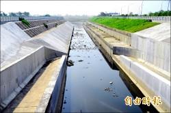 歸仁區港尾溝溪分洪道 通過風災考驗