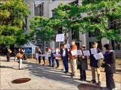 旅加僑胞 抗議中國鴨霸