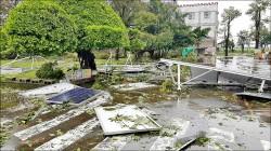 太陽能板連根拔起 民代促校園體檢