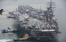 美國「雷根號」航母黃海軍演 中國反應受矚