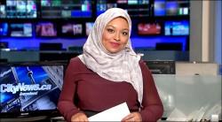 加拿大首位穆斯林女性穿頭巾播新聞