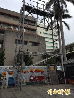 設計「極限體能王」場地 竹市消防吹猛男運動風