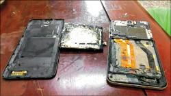 HTC手機充電突自燃