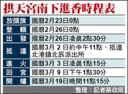 白沙屯媽祖進香 2/26出發來回12天