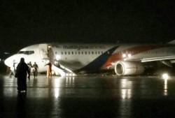 馬航班機降落意外 衝出跑道機身觸地