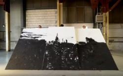 超壯觀沙畫家又有新作 這次橫跨三張畫布場面超震撼!(有片)